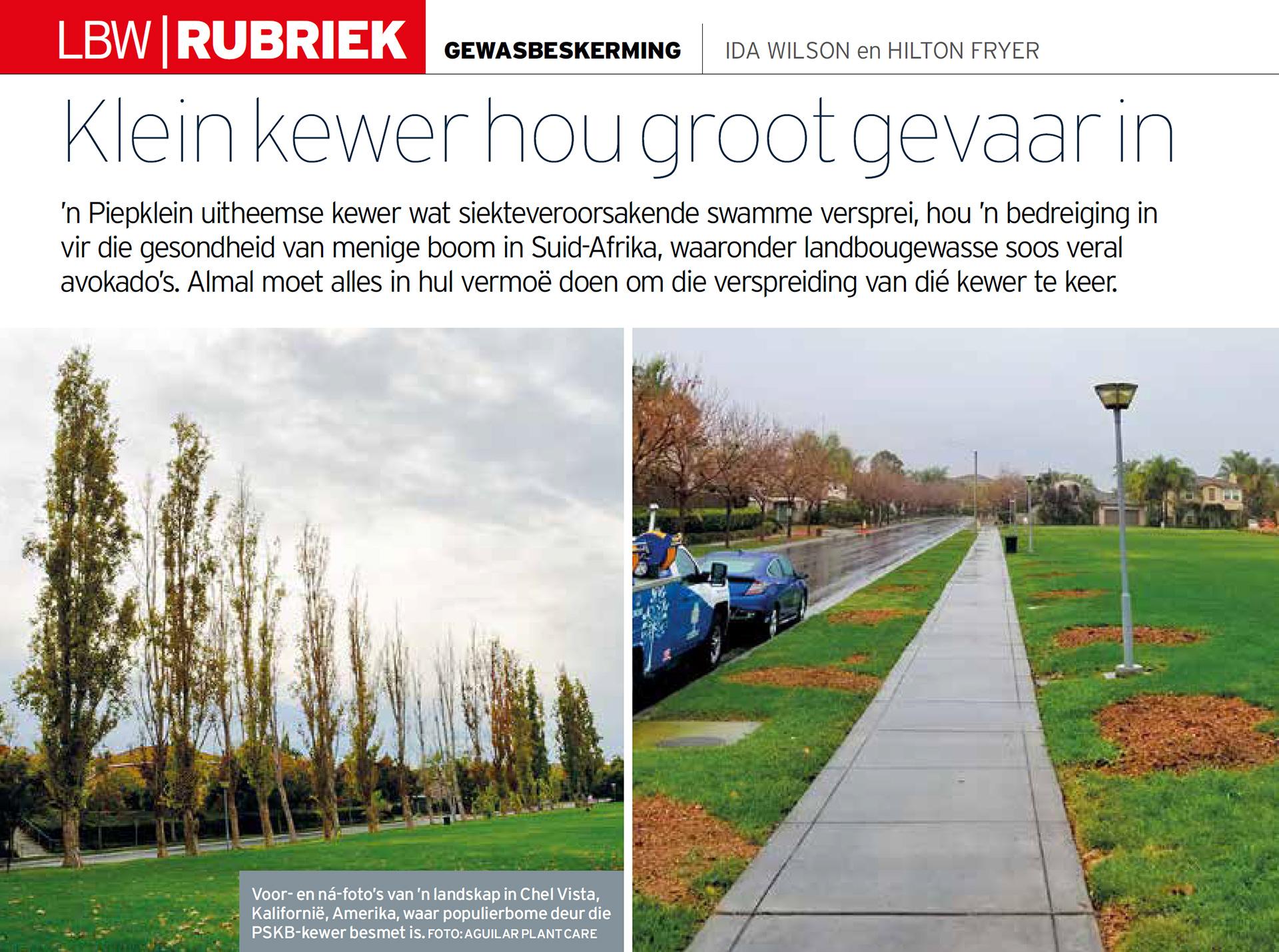 Netwerk24.com – Landbou: Klein kewer hou groot gevaar in